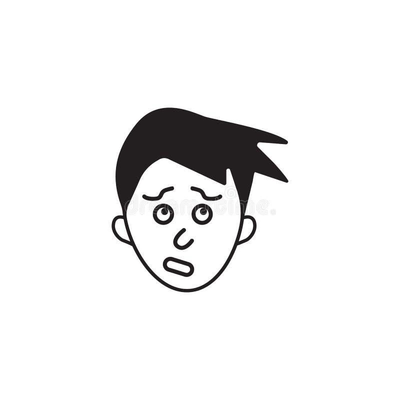 icône de culpabilité Élément d'illustration humaine d'éléments d'émotions Icône de la meilleure qualité de conception graphique d illustration de vecteur