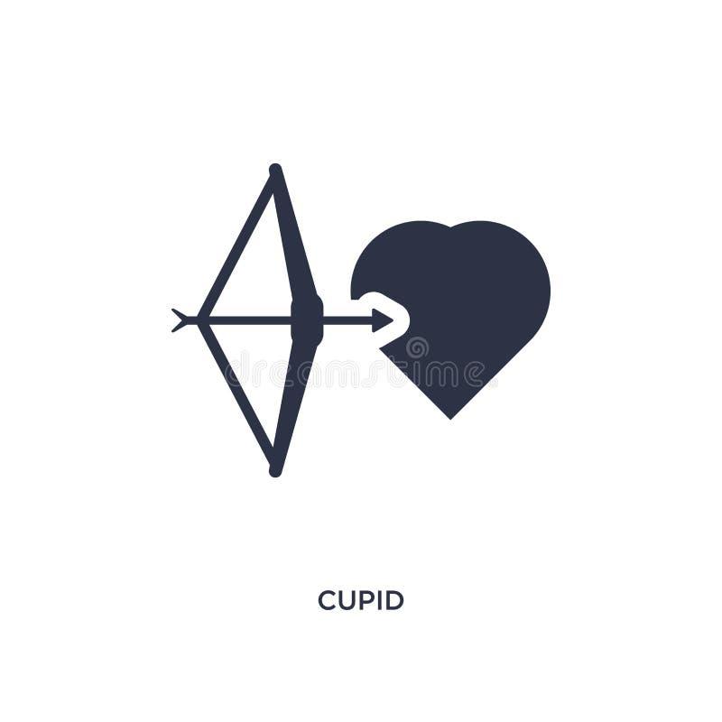 icône de cupidon sur le fond blanc Illustration simple d'élément de fête d'anniversaire et de concept de épouser illustration stock