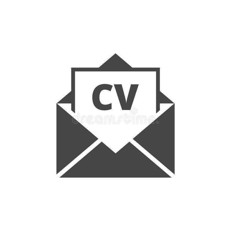 Icône de cv, icône de résumé de cv illustration stock