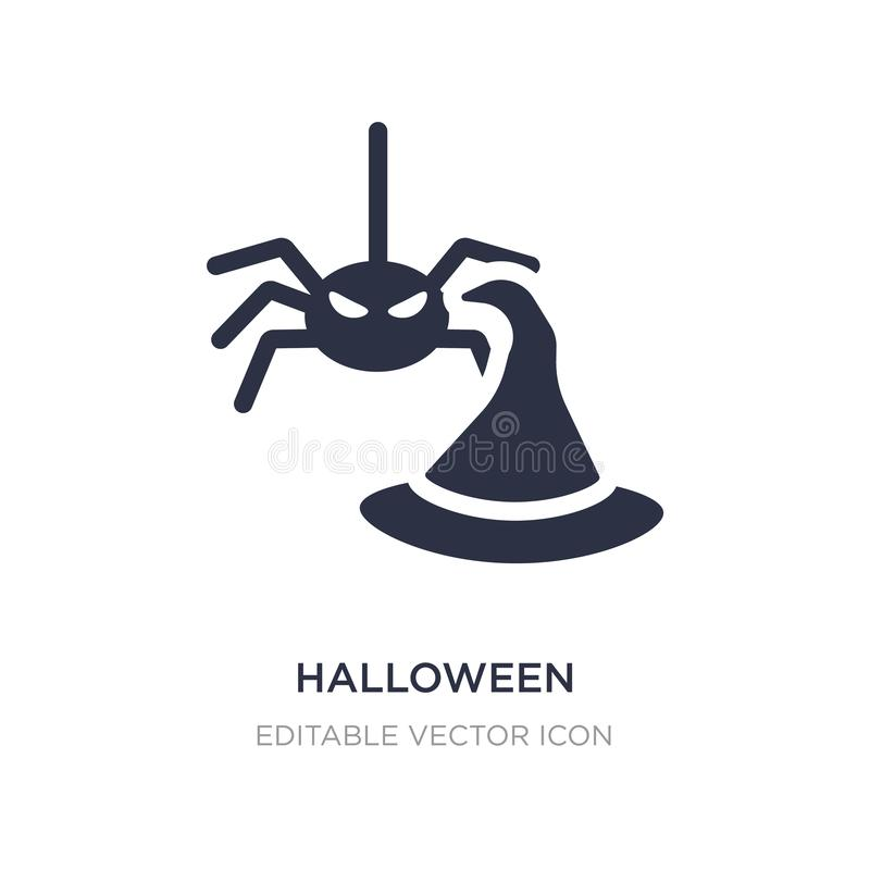 icône de décoration de Halloween sur le fond blanc Illustration simple d'élément de concept de Halloween illustration stock