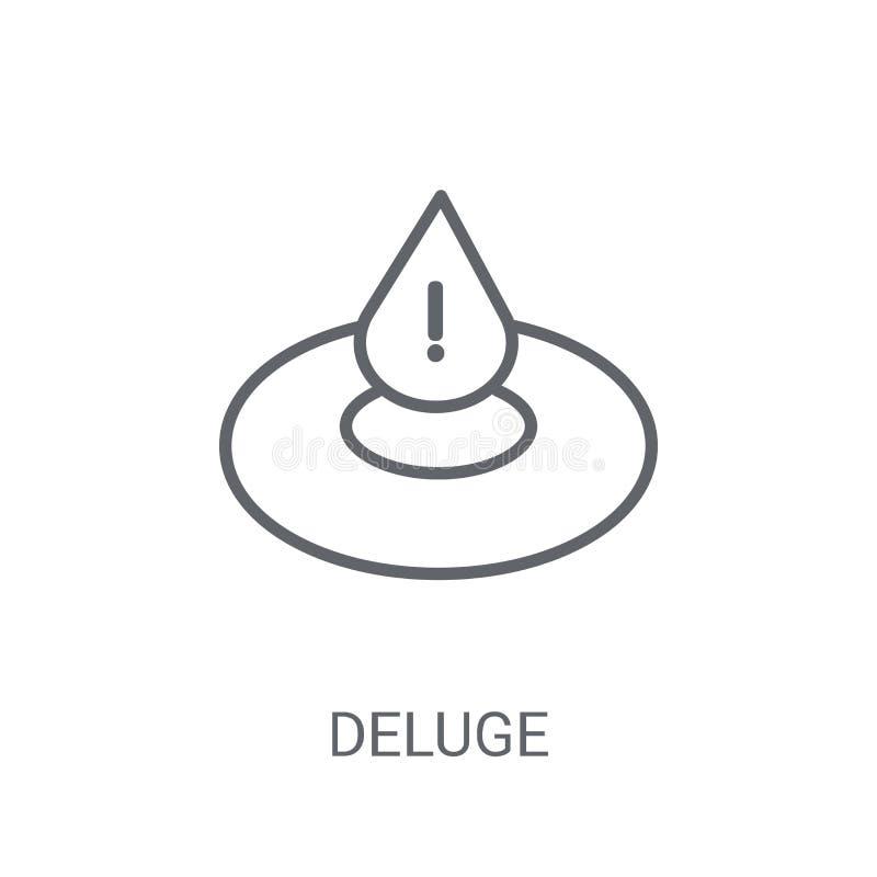 icône de déluge Concept à la mode de logo de déluge sur le fond blanc de illustration stock