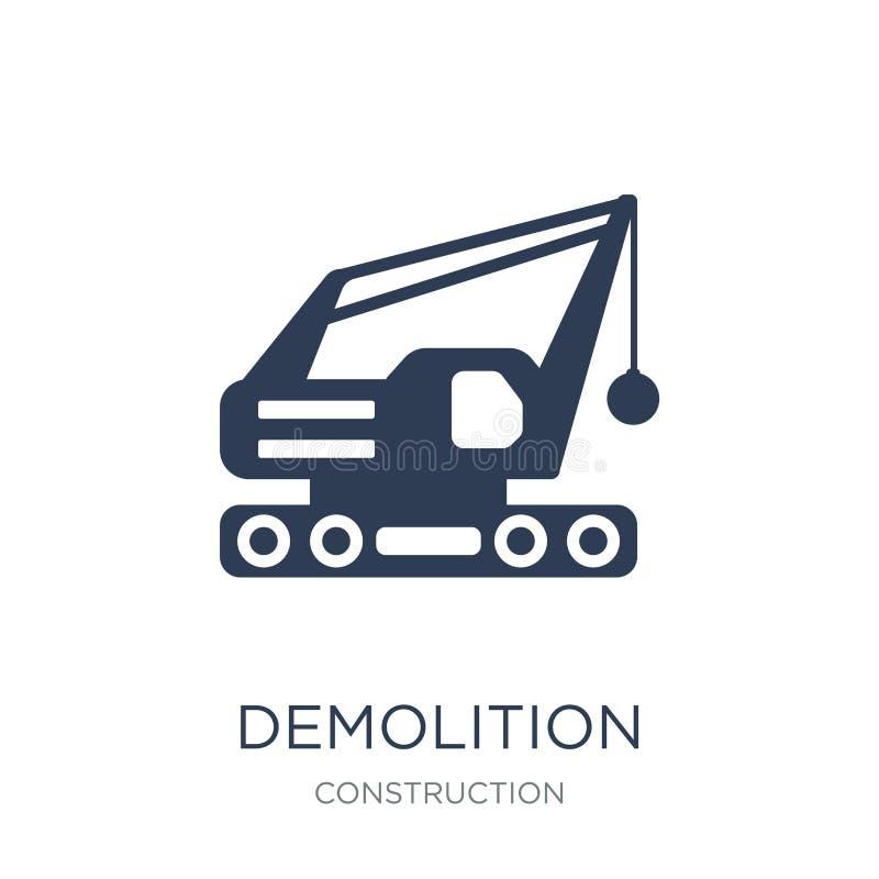 Icône de démolition  illustration stock