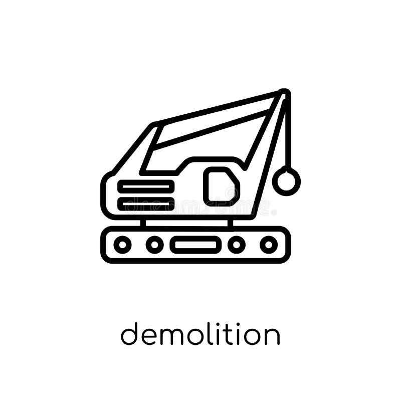 Icône de démolition  illustration de vecteur