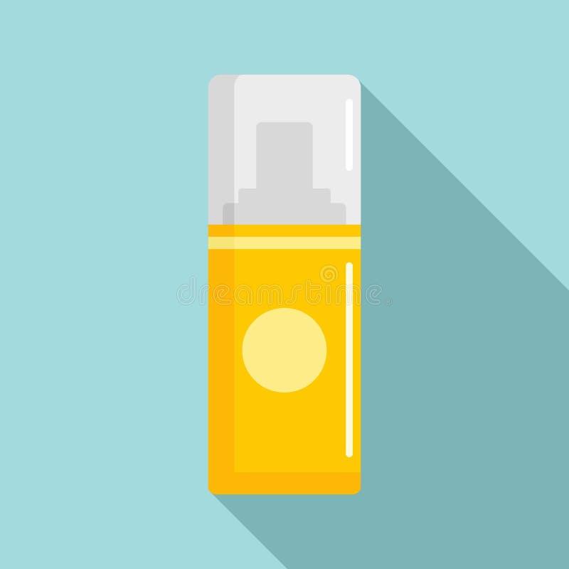 Icône de déodorant jaune, style plat illustration de vecteur