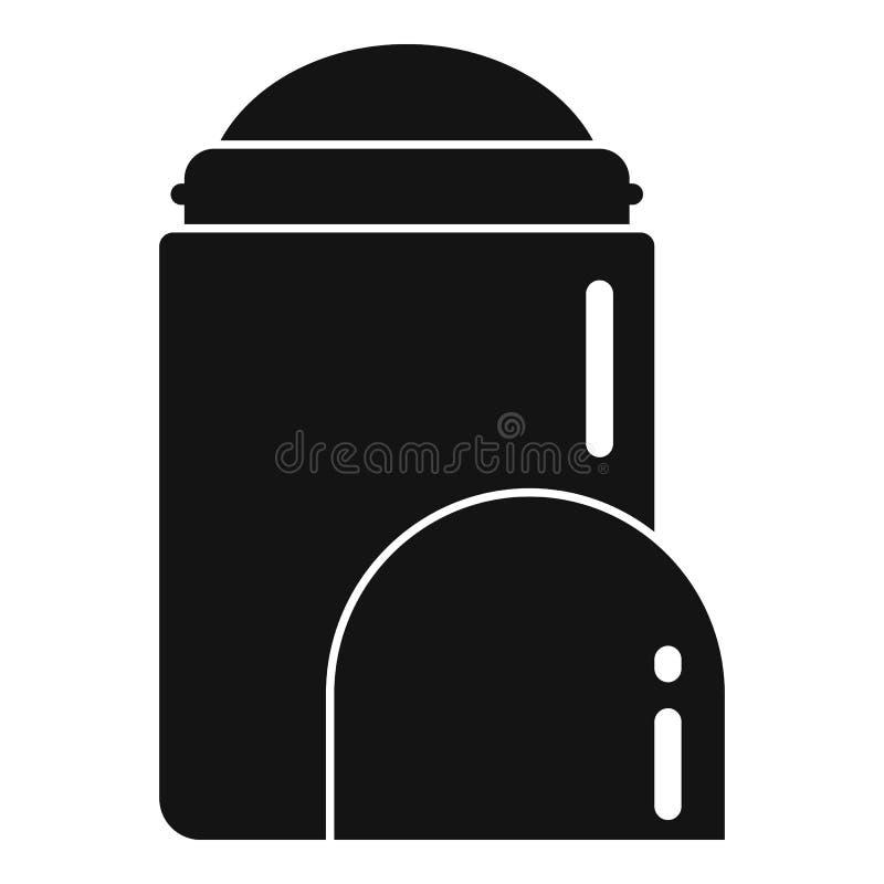 Icône de déodorant de l'homme, style simple illustration libre de droits