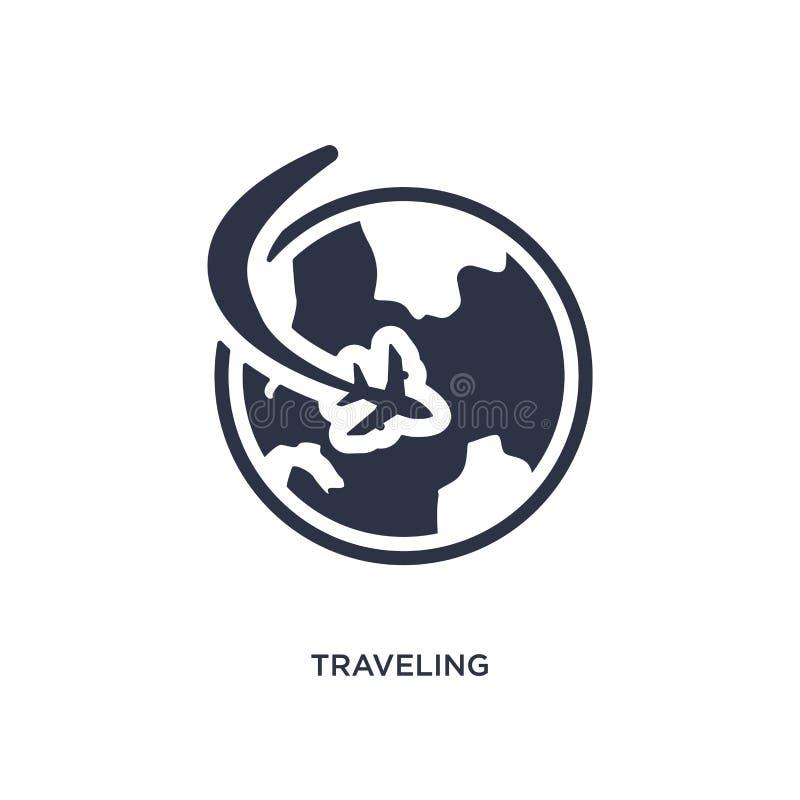 icône de déplacement sur le fond blanc Illustration simple d'élément de concept de temps libre illustration de vecteur
