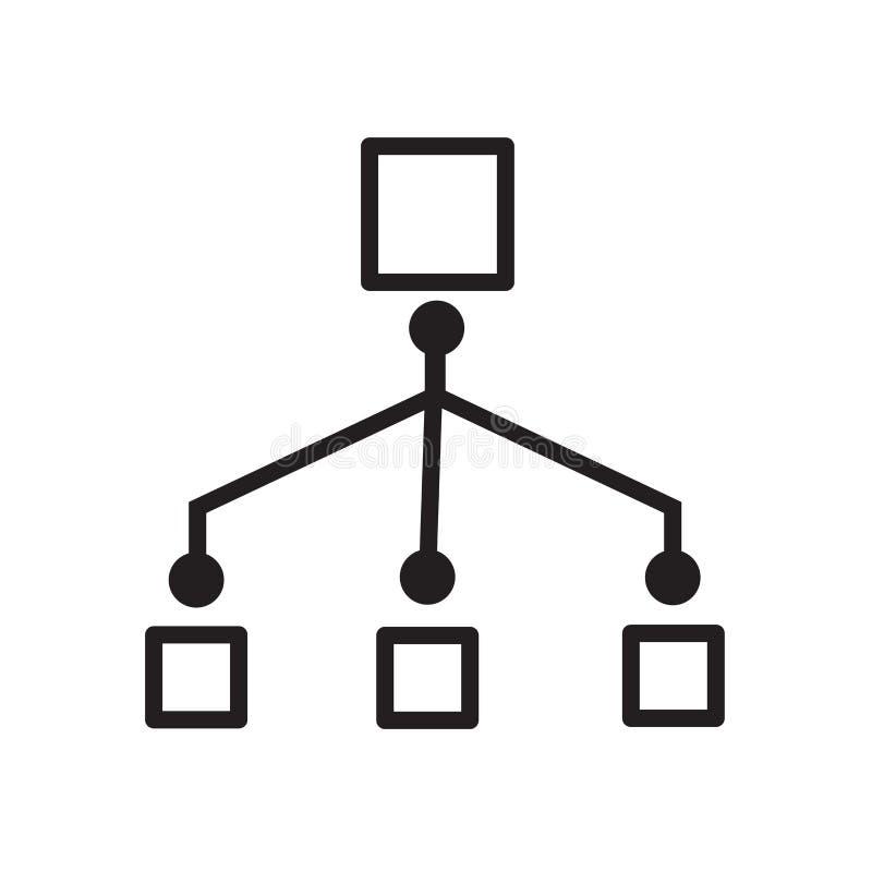icône de déroulement des opérations de réseau illustration libre de droits