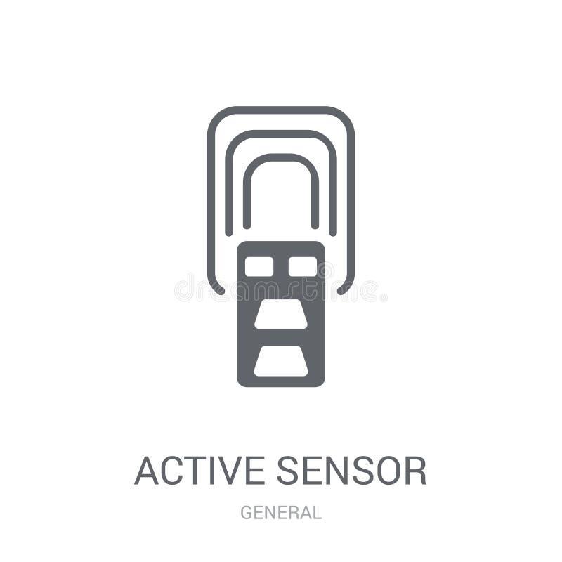 icône de détecteur actif  illustration stock