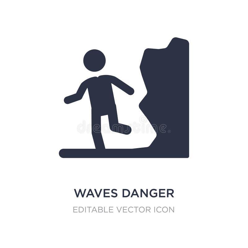 icône de danger de vagues sur le fond blanc Illustration simple d'élément de concept de personnes illustration stock