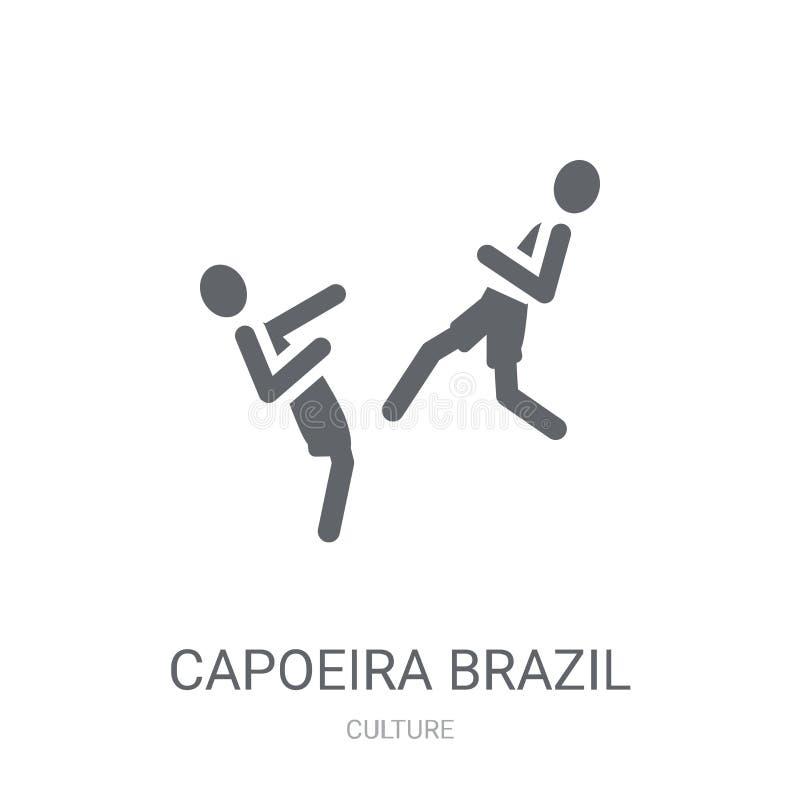 Icône de danseurs de Capoeira Brésil  illustration stock