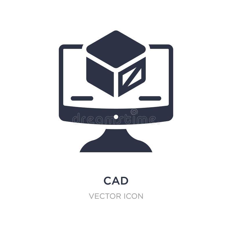 icône de DAO sur le fond blanc Illustration simple d'élément de concept de technologie illustration libre de droits