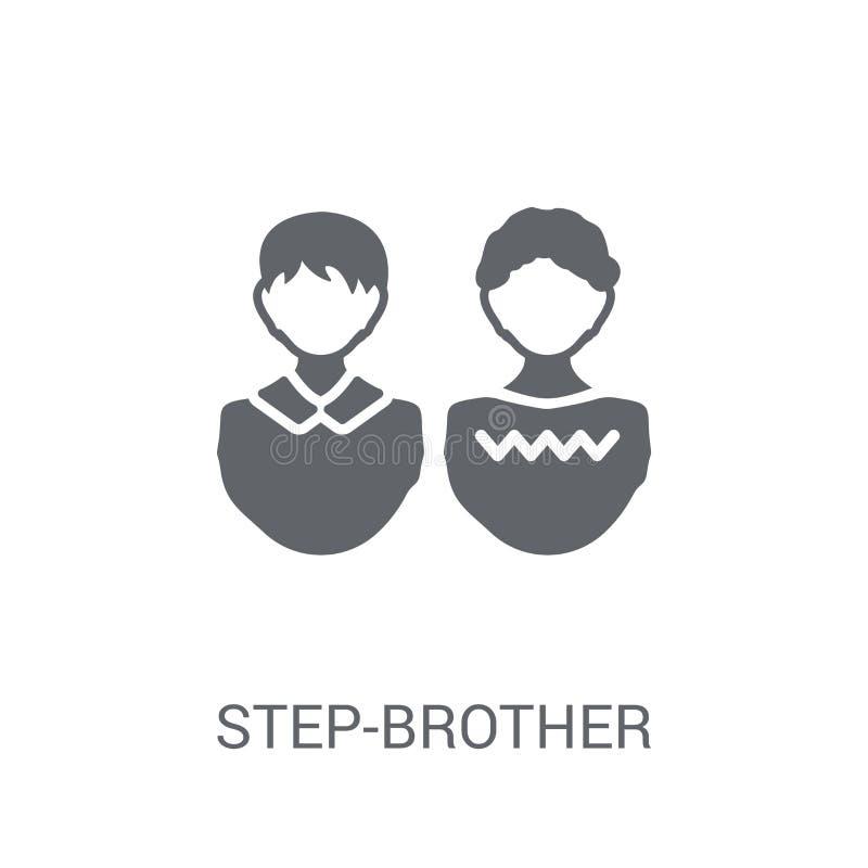 icône de demi-frère Concept à la mode de logo de demi-frère sur le CCB blanc illustration libre de droits