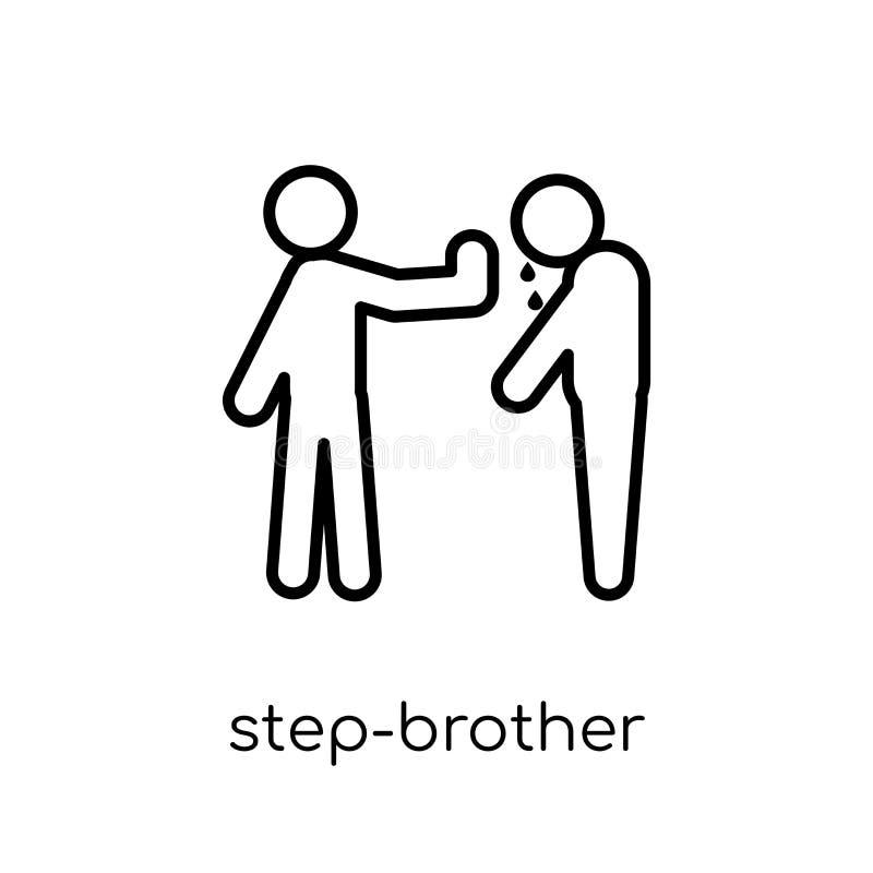 icône de demi-frère Demi-frère linéaire plat moderne à la mode de vecteur illustration stock