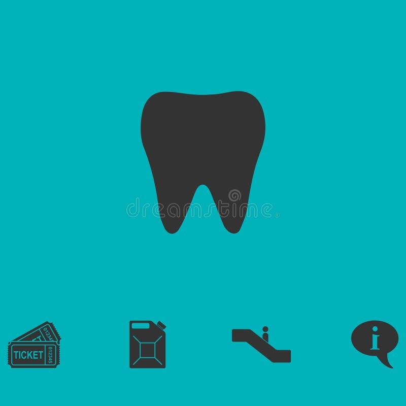 Icône de dent plate illustration stock