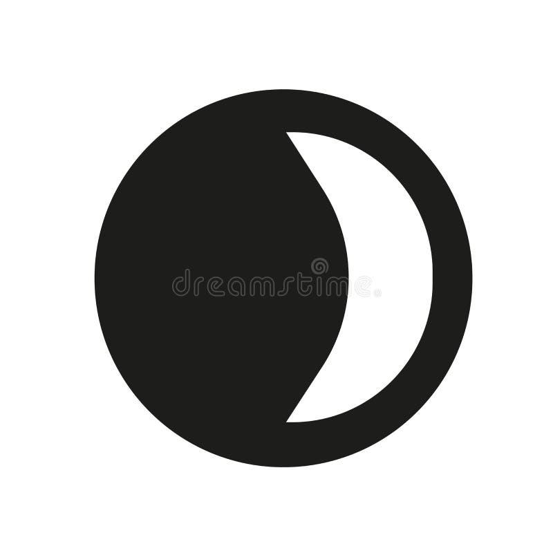 Icône de dernier trimestre Concept à la mode de logo de dernier trimestre sur le CCB blanc illustration stock