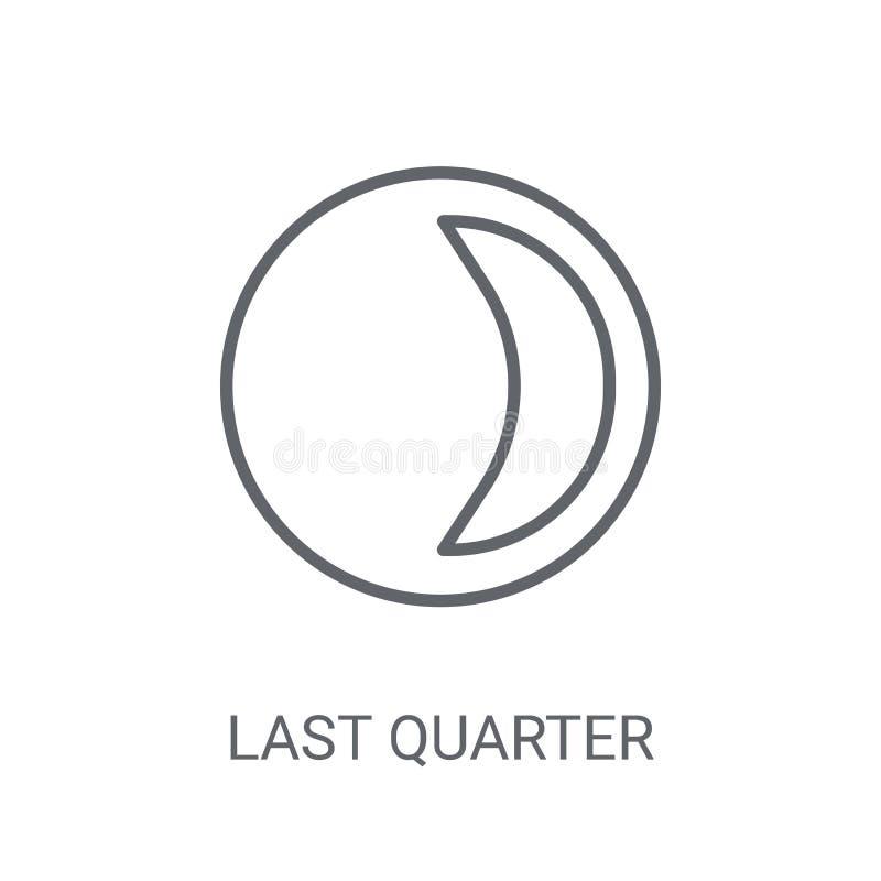 Icône de dernier trimestre Concept à la mode de logo de dernier trimestre sur le CCB blanc illustration de vecteur