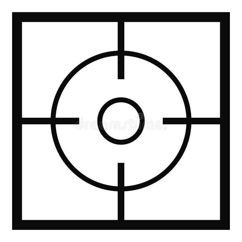 Icône de destination, style simple illustration stock
