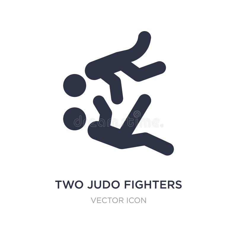 icône de deux combattants de judo sur le fond blanc Illustration simple d'élément de concept de sports illustration libre de droits