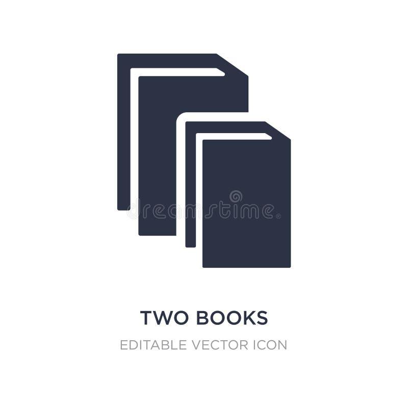 icône de deux livres sur le fond blanc Illustration simple d'élément de concept d'éducation illustration stock