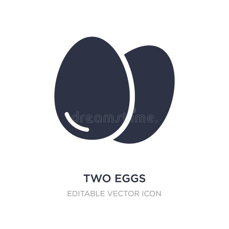 icône de deux oeufs sur le fond blanc Illustration simple d'élément de concept de nourriture illustration libre de droits