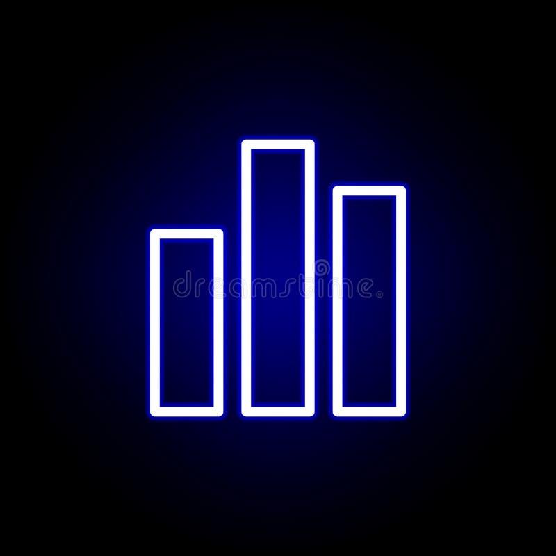Icône de diagramme dans le style au néon Peut ?tre employ? pour le Web, logo, l'appli mobile, UI, UX illustration de vecteur
