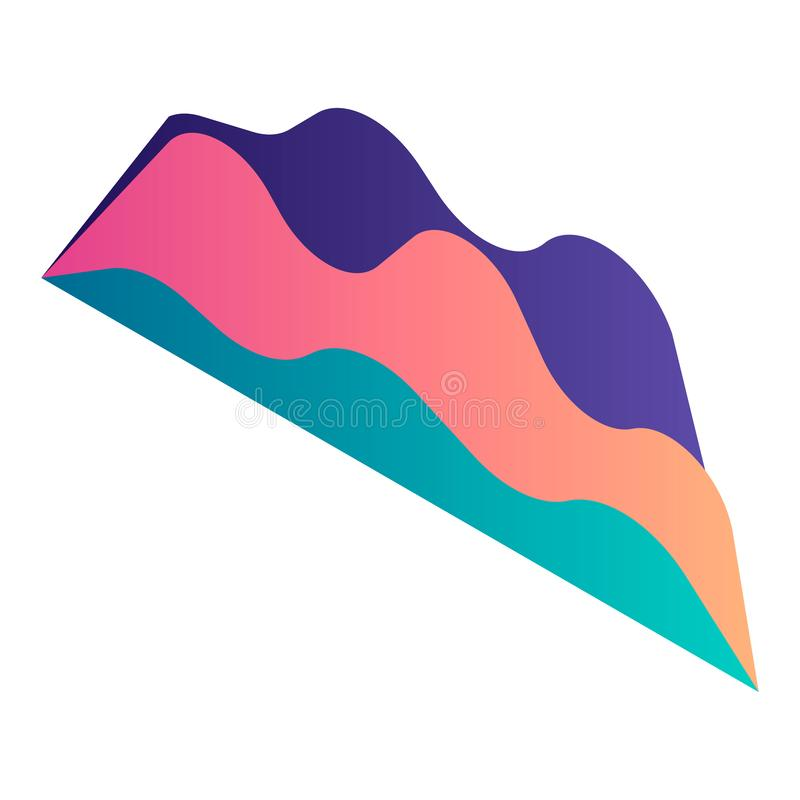 Icône de diagramme de graphique de gradient, style isométrique illustration libre de droits