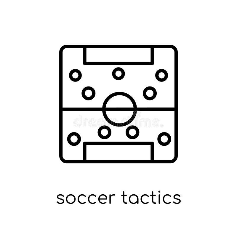 Icône de diagramme de la tactique du football de collection de productivité illustration stock