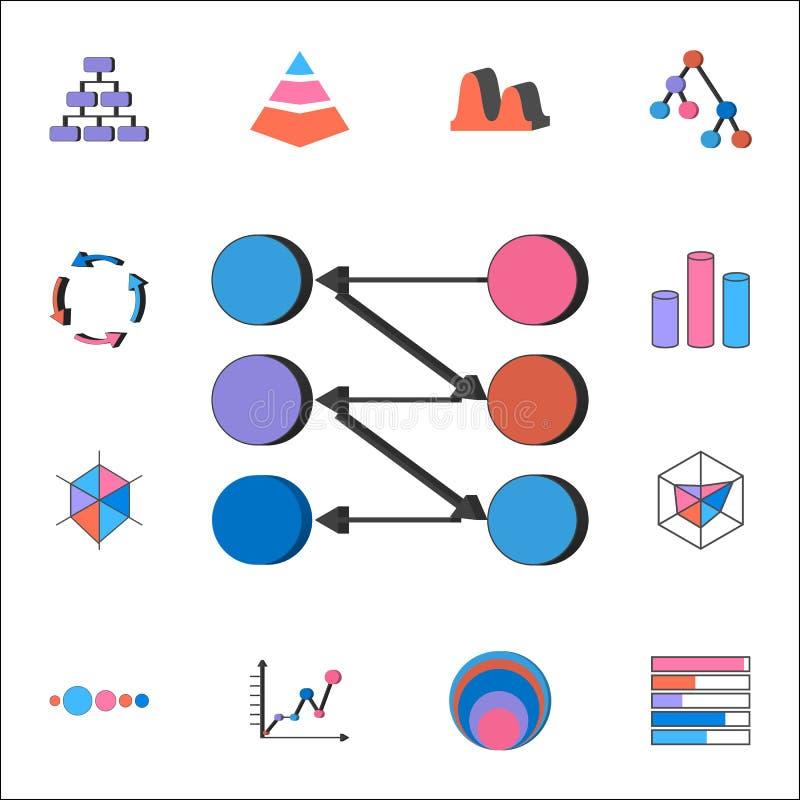 Icône de diagrammes de point Ensemble détaillé d'icônes de diagrammes et de Diagramms Signe de la meilleure qualité de conception illustration stock