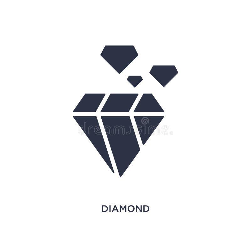 Icône de diamant sur le fond blanc Illustration simple d'élément de concept de service à la clientèle illustration stock