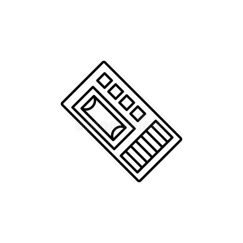 Icône de dictaphone Élément d'icône de crime et de punition pour les apps mobiles de concept et de Web La ligne mince icône de di illustration de vecteur