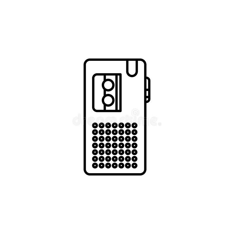 Icône de dictaphone Élément de journaliste pour l'illustration mobile d'apps de concept et de Web Illustration pour la conception illustration libre de droits