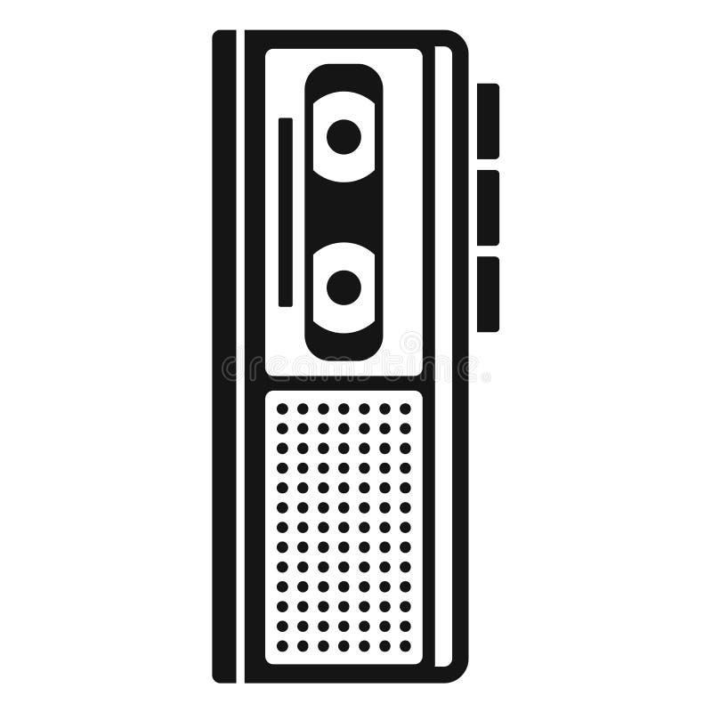 Icône de dictaphone de cassette, style simple illustration libre de droits