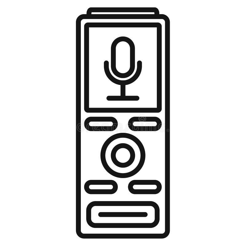 Icône de dictaphone de Digital, style d'ensemble illustration de vecteur