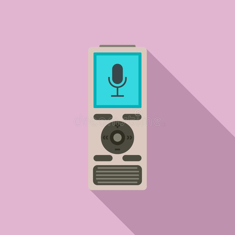 Icône de dictaphone de Digital, style plat illustration de vecteur