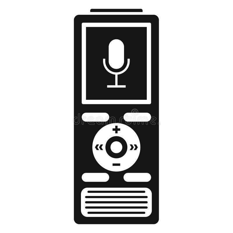 Icône de dictaphone de Digital, style simple illustration libre de droits