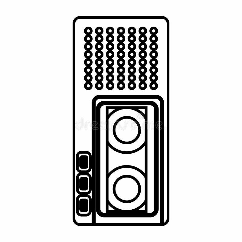 Icône de dictaphone, style d'ensemble illustration stock