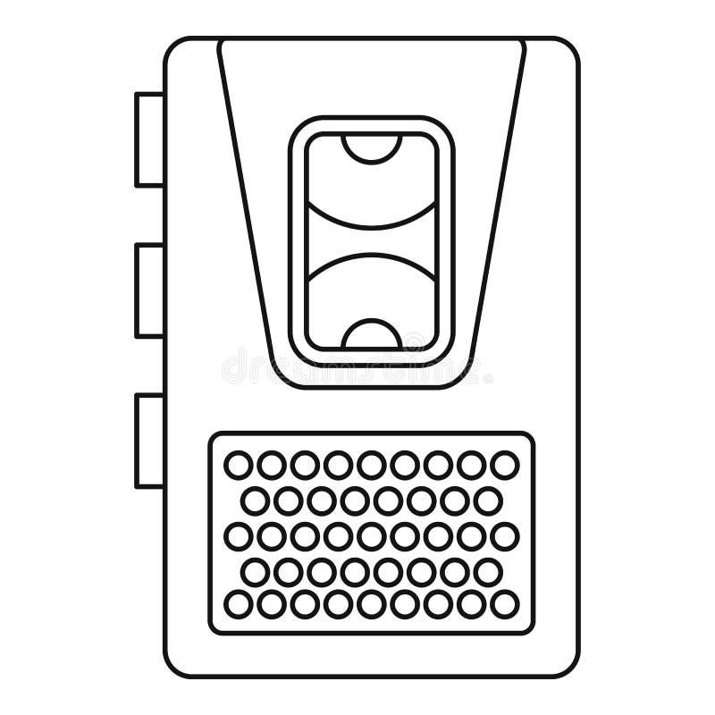 Icône de dictaphone, style d'ensemble illustration libre de droits
