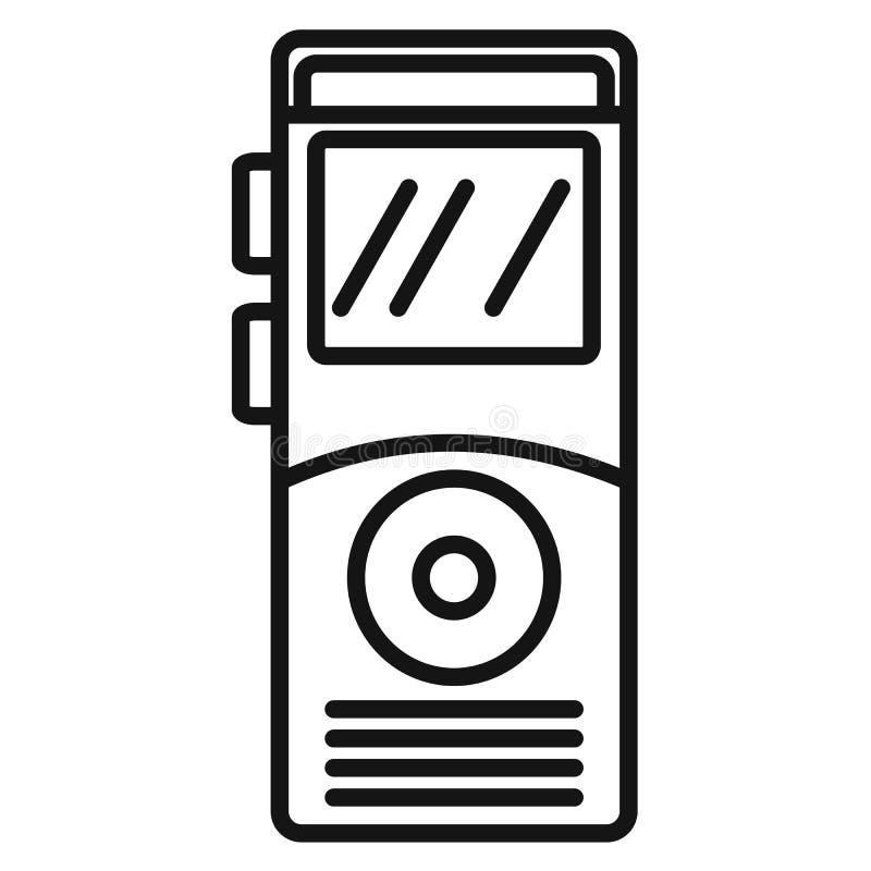 Icône de dictaphone, style d'ensemble illustration de vecteur