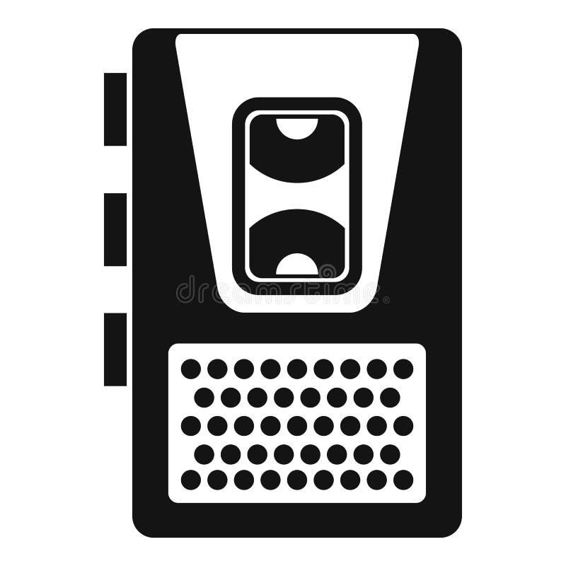 Icône de dictaphone, style simple illustration libre de droits