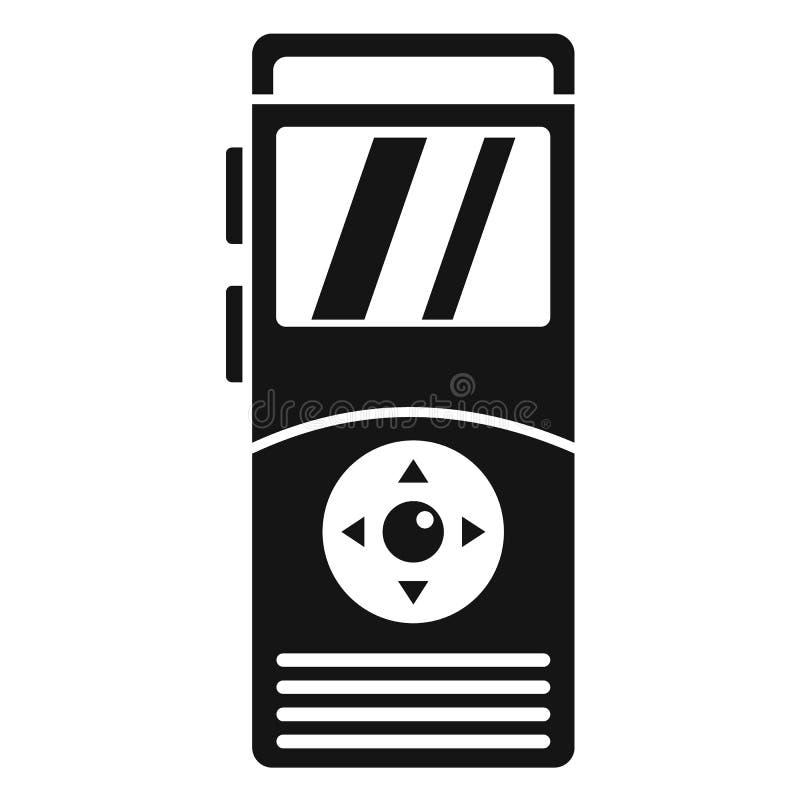 Icône de dictaphone, style simple illustration de vecteur