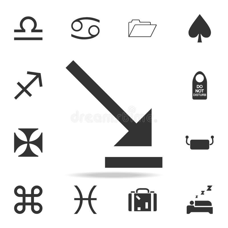 Icône de dimension compacte, illustration de vecteur Ensemble détaillé d'icônes de Web Conception graphique de qualité de la meil illustration de vecteur