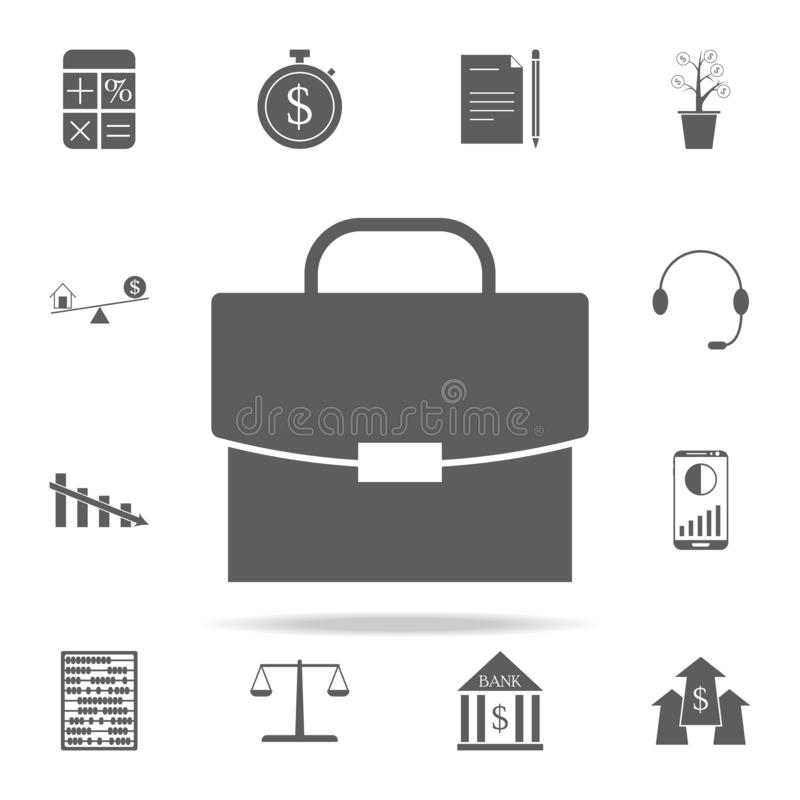 Icône de diplomate Financez l'ensemble universel d'icônes pour le Web et le mobile illustration libre de droits