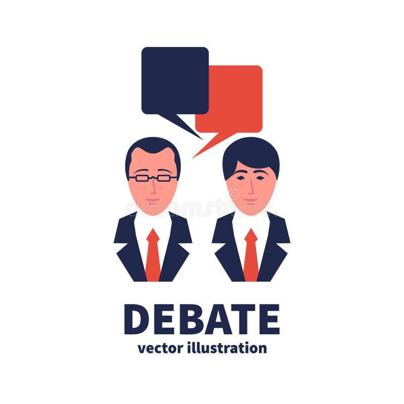 Icône de discussion Discussion de signe illustration de vecteur