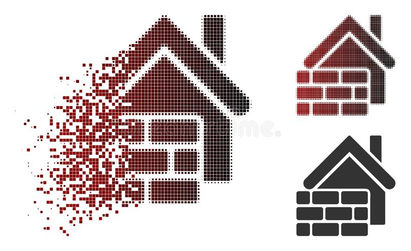 Icône de disparition de Dot Halftone Realty Brick Wall illustration de vecteur