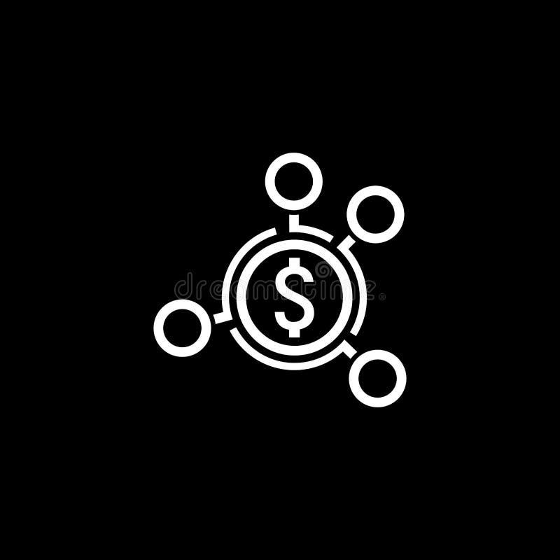 Icône de distribution d'argent Conception plate illustration libre de droits