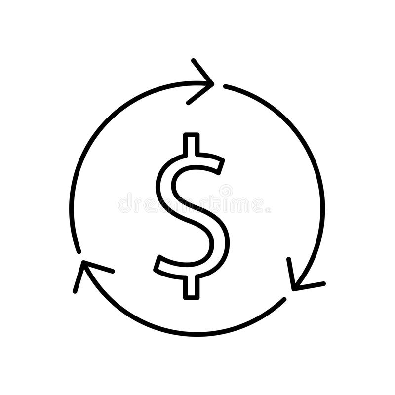 icône de distribution d'argent, illustration de vecteur illustration stock