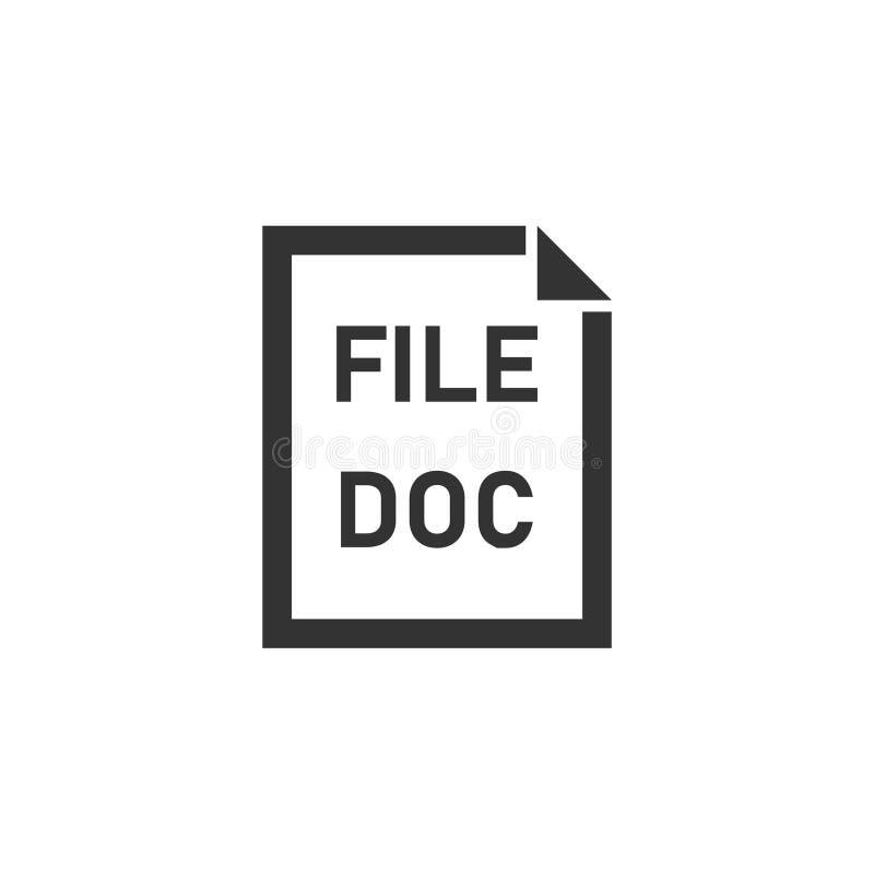 Icône de Doc. File à plat illustration de vecteur