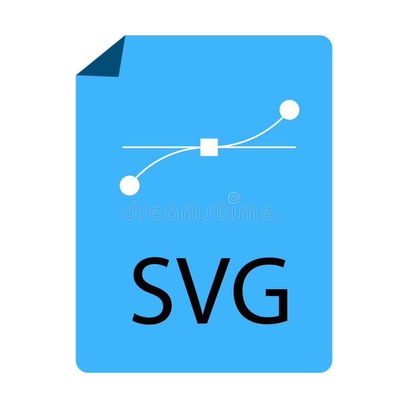Icône de document bleue de dossier de SVG sur le fond blanc Style plat icône bleue de dossier de SVG pour votre conception de sit illustration stock