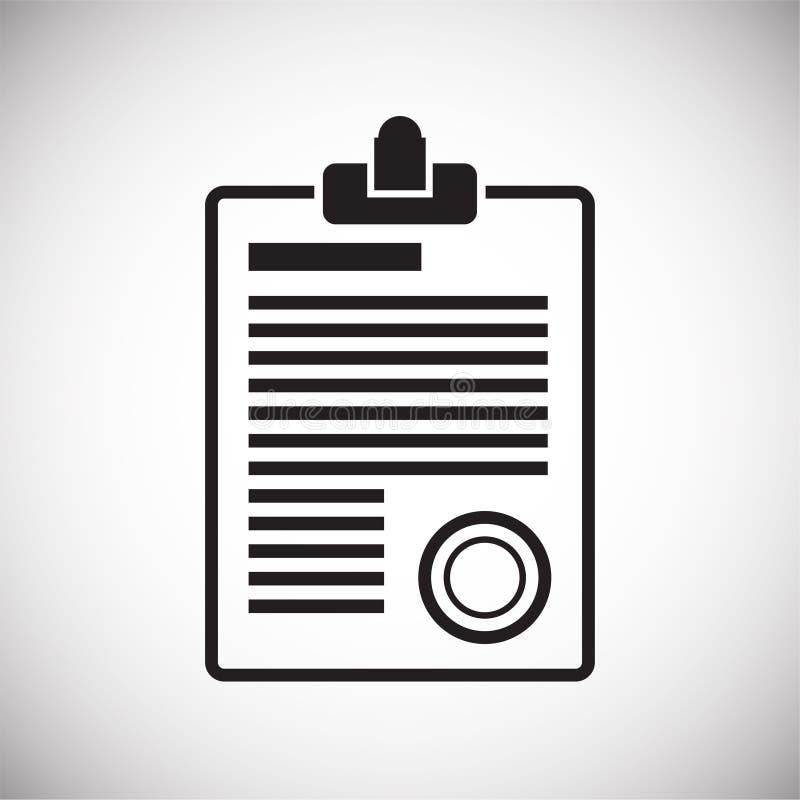 Icône de document d'entreprise sur le fond blanc pour le graphique et la conception web, signe simple moderne de vecteur Internet illustration libre de droits