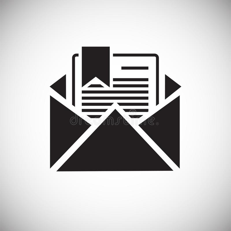 Icône de document d'entreprise sur le fond blanc pour le graphique et la conception web, signe simple moderne de vecteur Internet illustration stock